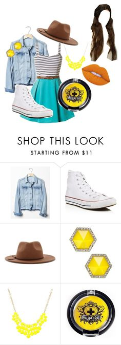 """""""A Walk in the Park"""" by eleni7506 ❤ liked on Polyvore featuring Gap, Converse, Forever 21, ABS by Allen Schwartz, Sugarpill and Lime Crime"""