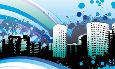 Vector Computer Wallpapers Desktop Backgrounds x ID 4k Wallpaper For Mobile, City Wallpaper, Painting Wallpaper, Computer Wallpaper, Vector Design, Vector Art, Beautiful Facebook Cover Photos, Blue City, Psychedelic Art