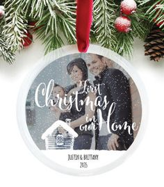 First Christmas in our Home, Photo Ornament | PaperRamma