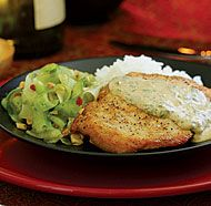 Chicken Breasts with Red Thai Curry Peanut Sauce