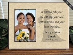 a mother holds her daughters hand for just a short time but her heart forever picture frame personalized frame mother of the bride gifts pinterest - Mother Of The Bride Picture Frame