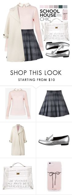 """""""Work Hard, Play Hard: Finals Season"""" by yoo-q ❤ liked on Polyvore featuring Ted Baker, Olympia Le-Tan, Gucci, Hermès, Kitsch, contestentry and finals"""