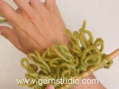In this DROPS video we show how you can knit double loop knitting. Use this fun technique to make a loop scarf, loop cuffs, loop collar or why not a loopy...