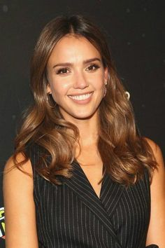 "Jessica Alba looked chic and elegant as she opted to dress up in a polished black pinstripe jumpsuit with sleeveless design, which showed off her toned arms and slim fitted design, which helped highlight her slender figure and emphasized her narrow waist, while posing for the photos at the Refinery 29′s ""29 Rooms"" event held during New York Fashion Week on September 8, 2016 in Brooklyn, New York. The other notable attendees at the event were Kate Mara and Priyanka Chopra."