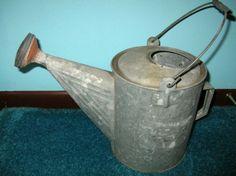 Vintage Galvanized Garden Flower Watering Sprinkling CAN