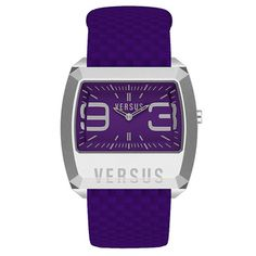 Versus by Versace Purple Leather Watch