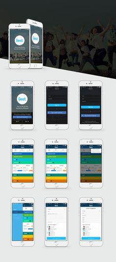 Gest - Social Suggestion Mobile App  Designed by Mirza Iftekar