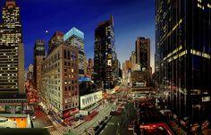Photorealist Painter Meticulously Recreates City Scenes - My Modern Metropolis.  Images via Louis K. Meisel Gallery