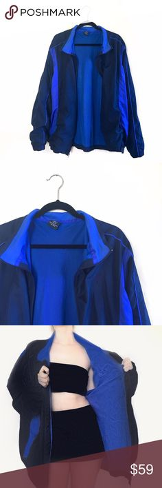 """• Vintage Starter Windbreaker • Vintage oversized windbreaker. Wear this with a sexy outfit underneath and some knee high boots for a Kylie look! 29"""" long. 2XL. Starter Sweaters"""