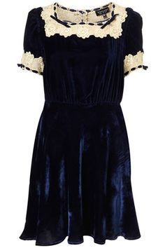 Velvet Vintage Lace Dress - StyleSays