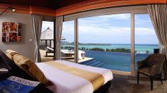 Bedroom with ocean view.  #bedroom #ocean #design #relax