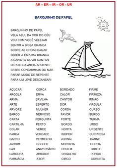 Ortografia: ar – er – ir -or –ur  |   Rérida Maria Curriculum, Homeschool, Portuguese Lessons, Too Cool For School, Pre School, Speech Therapy, Literacy, Writing, Motivation