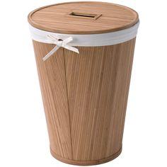 East Hampton Round Bamboo Hamper