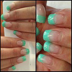Spring green nail tip.