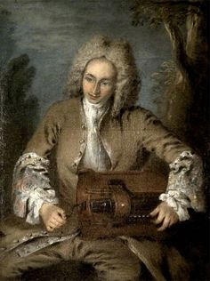 Nicolas Lancret Man Playing a Hurdy-Gurdy.