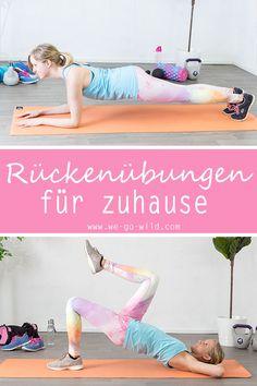 Übungen fürs Rückentraining zuhause. Rückenübungen ohne Geräte.