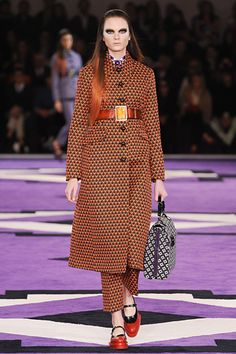 Love the crazy pattern + colored hair...Prada
