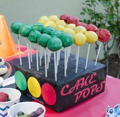 Lightning McQueen Cars birthday party cake pops! See more party ideas at CatchMyParty.com!