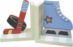 Hockey Bookends and decor at Jack and Jill Boutique