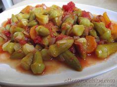 Zeytinyagli Bamya – Okra in Olive Oil  http://ottomancuisine.com/2011/10/20/zeytinyagli-bamya-okra-in-olive-oil/
