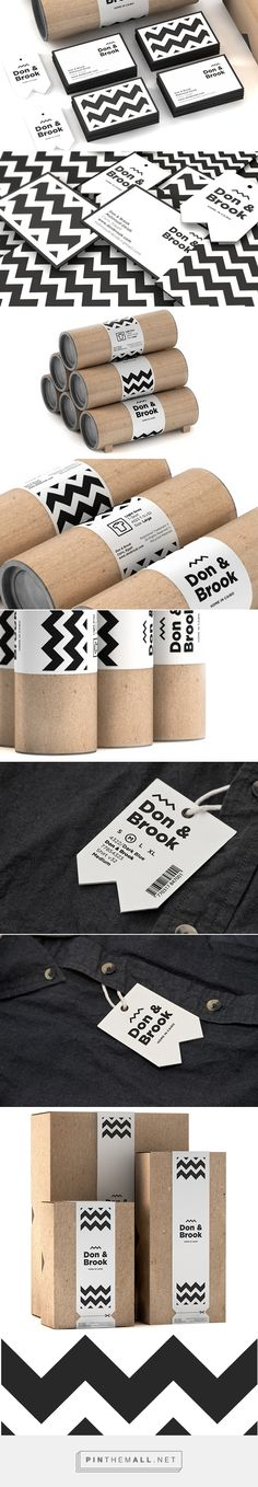 Don & Brook - Don & Brook is a Cairo based menswear and lifestyle brand / clothing packaging Source by mentrendtoday - Corporate Design, Graphic Design Branding, Label Design, Identity Design, Visual Identity, Logo Branding, Logo Design, Logos, Web Design