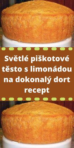 Světlé piškotové těsto s limonádou na dokonalý dort recept Cornbread, Baked Potato, Banana Bread, Hamburger, Food And Drink, Potatoes, Baking, Ethnic Recipes, Millet Bread