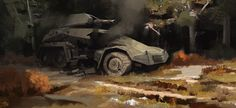 Working on my brush economy, and story telling. Military Vehicles, Artworks, Monster Trucks, Army Vehicles, Art Pieces