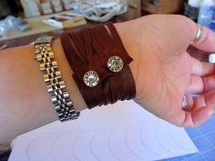Gorgeous DIY Leather Cuff