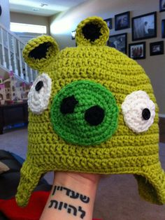 Angry Bird Hat Pig by HomemadeByBobbi on Etsy, $15.00