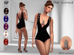 MP Flair Swimsuit at BTB Sims – MartyP via Sims 4 Updates