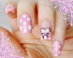 Pink for valentine #polkadot #cutemani #nailart - Go to bellashoot.com or #beautyapp for beauty inspiration!