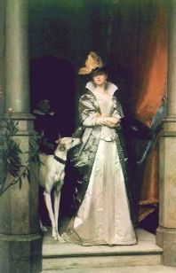 """Victorian Lady and Greyhound""  by Florent WILLEMS"