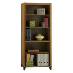 Achieve Collection 5 Shelf Bookcase With Adjustable Shelves And Optional  Doors   BHI1284