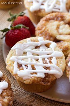 Delicious Homemade Cinnamon Rolls Muffins with a glaze on top! Recipe on { lilluna.com }