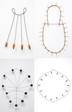 4 wire sculptures by Mari Andrews