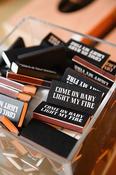"Personalized Matches for Cigar Bar.Homage to The Doors ""Come on Baby Light my fire"". Cigar Bar Wedding, Cigar Party, Speakeasy Wedding, 50th Party, 50th Birthday, Sister Birthday, Party Party, Birthday Gifts, One Year Anniversary"