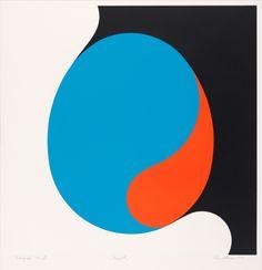 """igormaglica: """" Per Kleiva (b. 1933), Egget / Egg, 1968. color silk screen on paper, 493 x 493 mm """""""