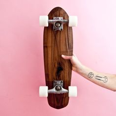 e5cb508a6fe I like the shape of this board and the contrast the natural wood against  the pink wall