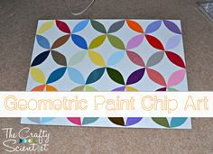 The Crafty Scientist: Geometric Paint Chip Art