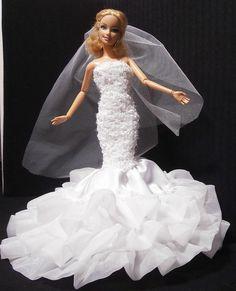Barbie Bridal, Mermaid Wedding, Dolls, Wedding Dresses, Fashion, Bridal Dresses, Moda, Bridal Gowns, Wedding Gowns