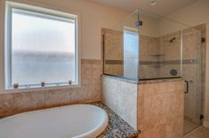 """Contemporary Full Bathroom with Legacy Series Sand Porcelain Tile, 58"""" x 39"""" Soaking Bathtub by American Acrylic"""