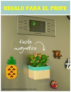 Manualidades y tendencias: Tiesto magnético reciclado / Recycled magnetic flo...