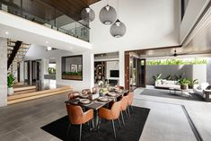 Home Renovation Modern A distinctly modern home with natural luxury - getinmyhome Luxury Home Decor, Luxury Interior, Home Interior Design, Interior Architecture, Luxury Apartments, Luxury Homes, Home Renovation, Home Remodeling, Display Homes