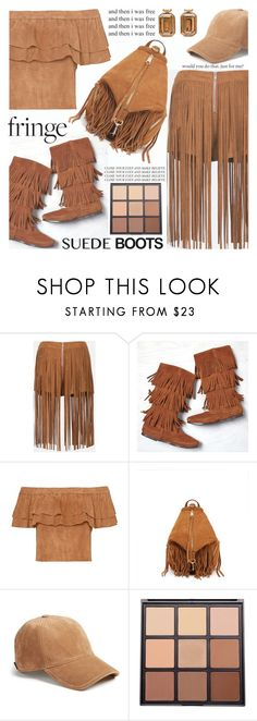 """(TFS)All Fringe All Suede"" by shoaleh-nia ❤ liked on Polyvore featuring Sans Souci, American Eagle Outfitters, Rebecca Minkoff, rag & bone and Morphe"