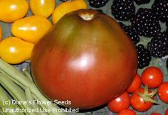 Tomato 'Japanese Black Trifele'     One of our favorites here. Meaty, full flavored and so delicious!