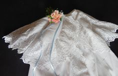 Beautiful French Cotton Pique Christening Cape for Baby Boy...or Girl  This extraordinary cape for a baby boys (or girls) Christening is an wonderful fine.  This exceptional piece is a double cape in fine cotton Pique with fine broderie anglaise lace ruffles. This exceptional piece is in superb vintage condition with no flaws that I see after careful examination. This Christening cape is clean, bright white and without stain, holes or repairs...in other words it is in exceptionally fine…