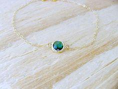 Emerald Bracelet,14k Gold Filled Emerald Bracelet,Birthstone Bracelet,Personalized Bracelet,May Birthstone,Stacking Bracelet,Emerald Gift by LetItBeLove on Etsy