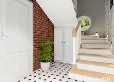 Czerwona płytka ceglana w przedpokoju Stairs, Home Decor, Stairway, Decoration Home, Staircases, Room Decor, Stairways, Interior Design, Home Interiors