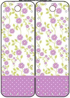 Marcador de Páginas Floral Lilás: