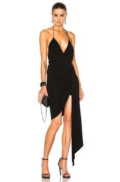 Alexandre Vauthier Deep V Mini Dress in Black   FWRD